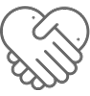vector holding hands heart icon