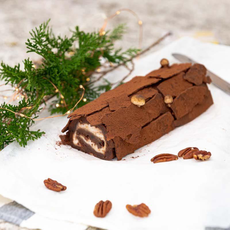 Spiced Chocolate Buche de Noel