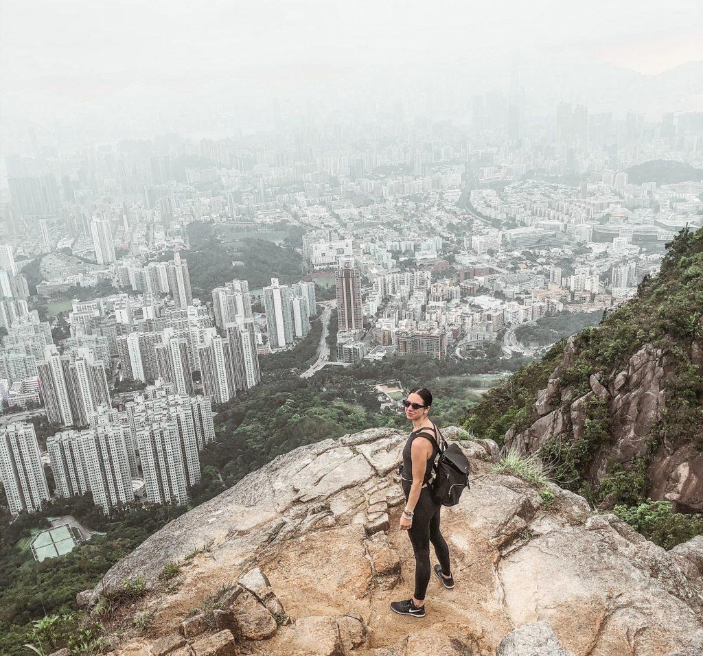 Emily Kelleher the Lion Rock Hong Kong hike