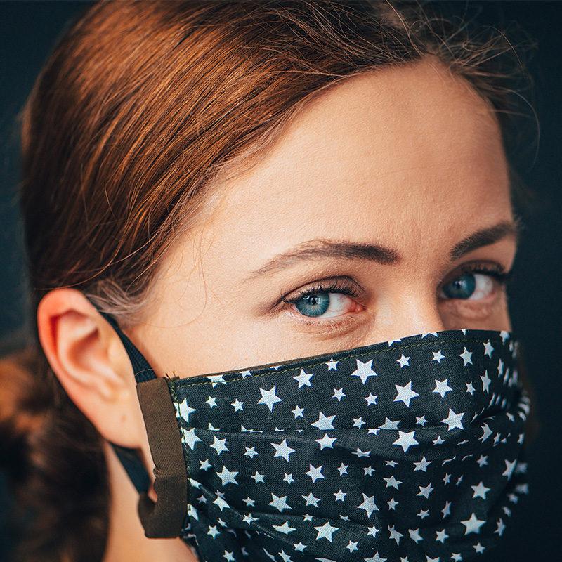 convid 19 mask woman virus sick