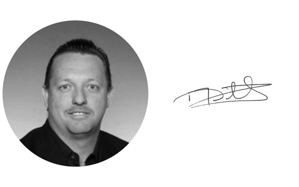 Mark Winstanley digital signature and black and white headshot