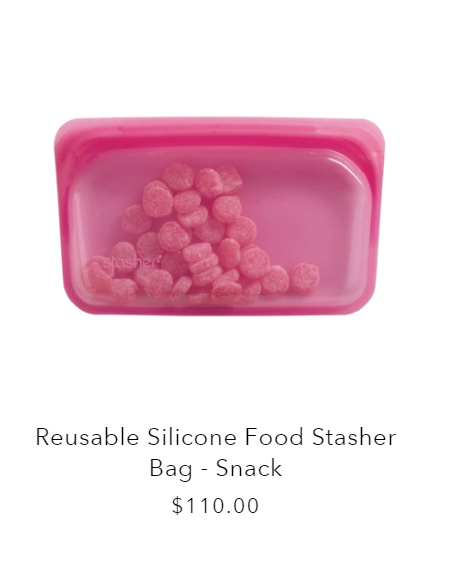 Sustainable Swaps for the Home reusable silicone stasher bags