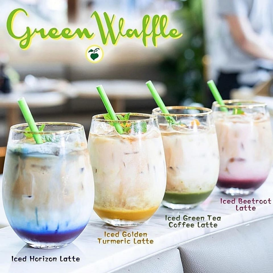 Green Waffle smoothies