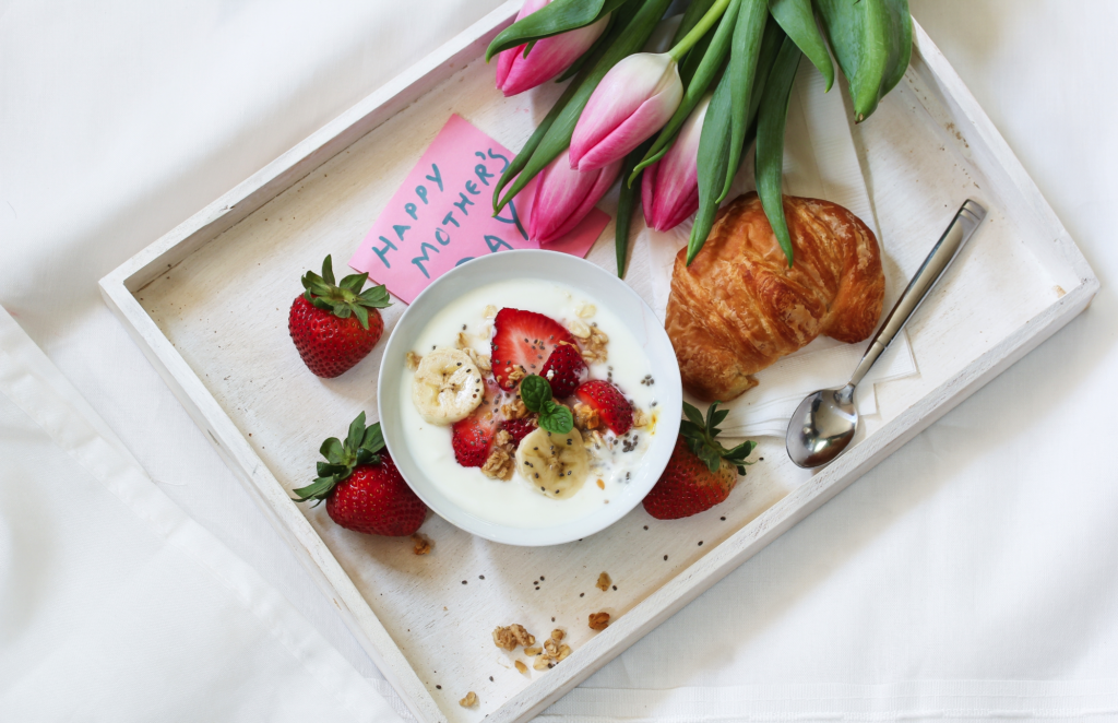 Mother's Day Breakfast in bed flowers
