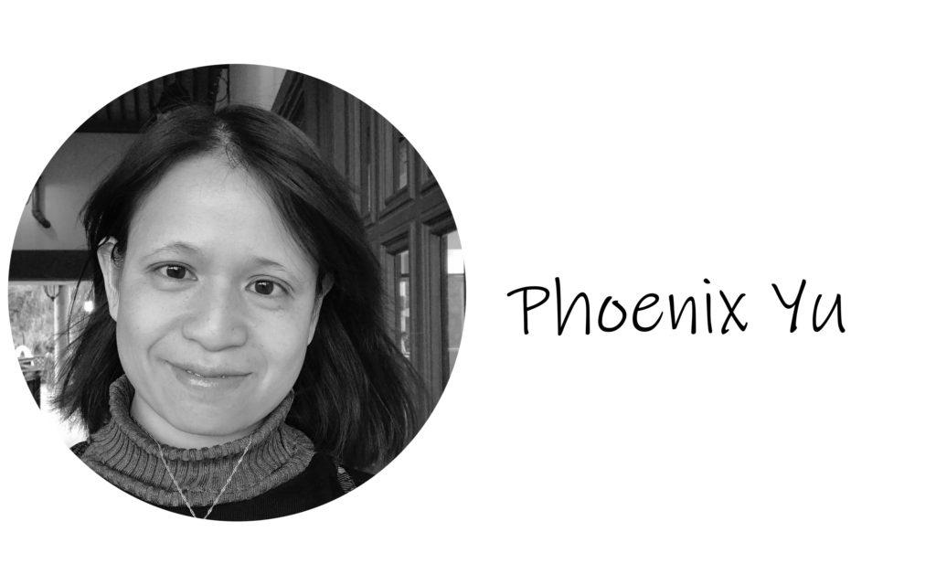 Phoenix Yu head shot black and white