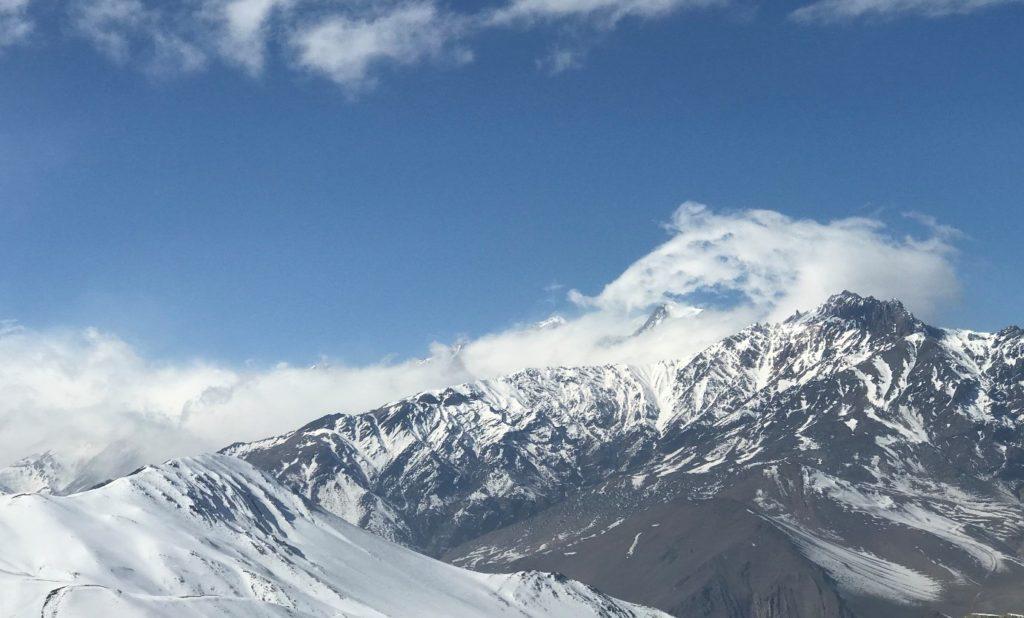 himalayas mountains and clouds Nepal
