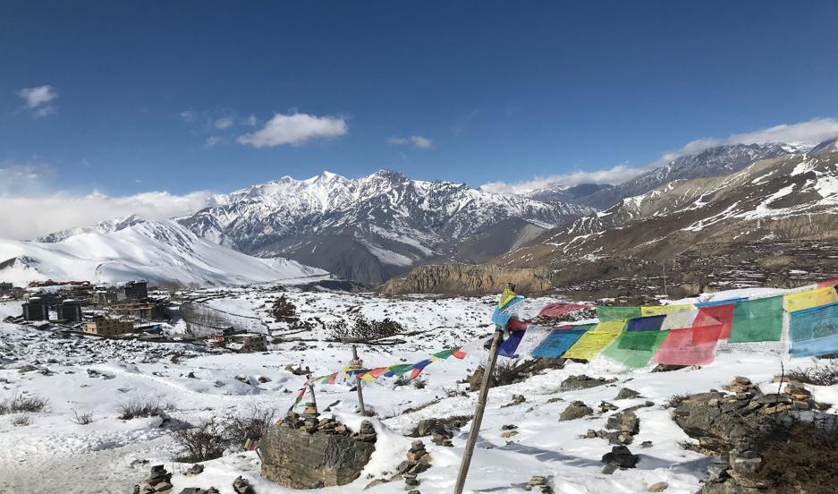 panoramic views of the Himalayas