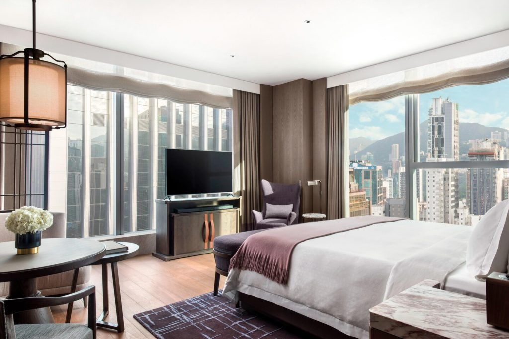 St. Regis Hong Kong staycation hotel room with the view