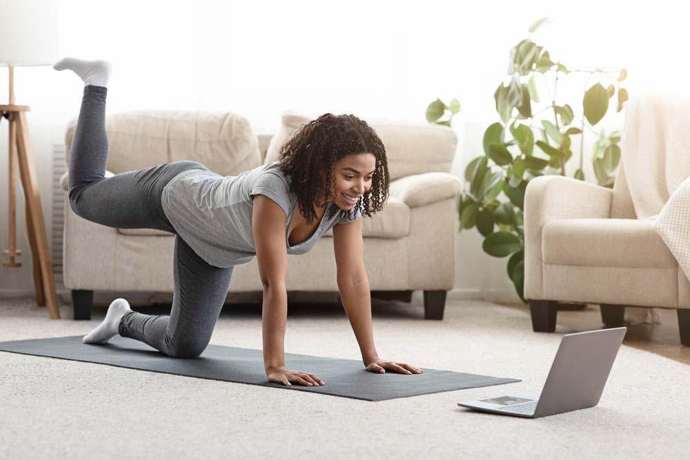 home workout lady yoga workout