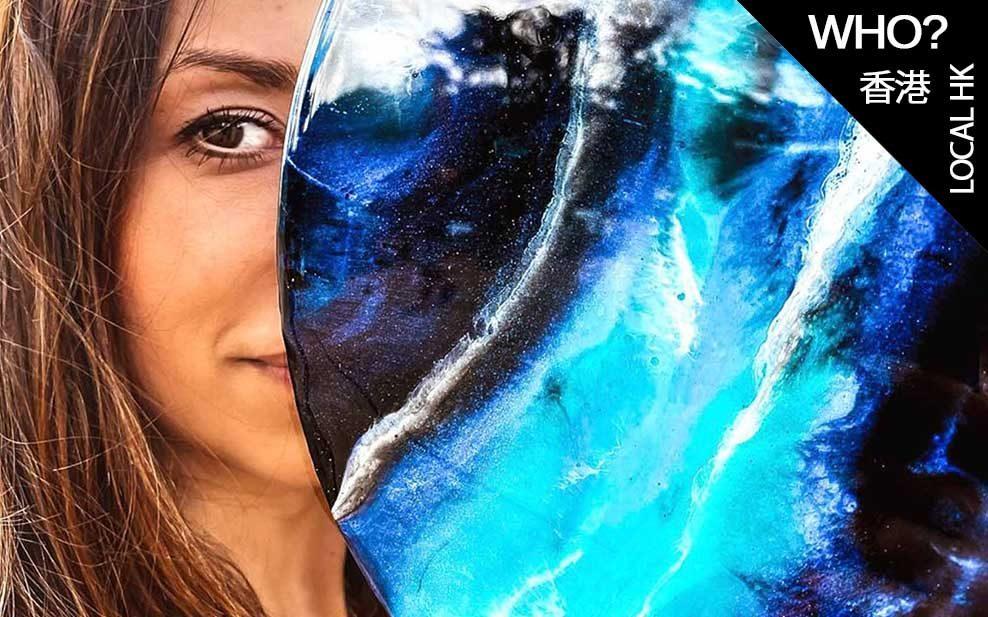 Magdalena Klim artful life abstract resin galaxy art