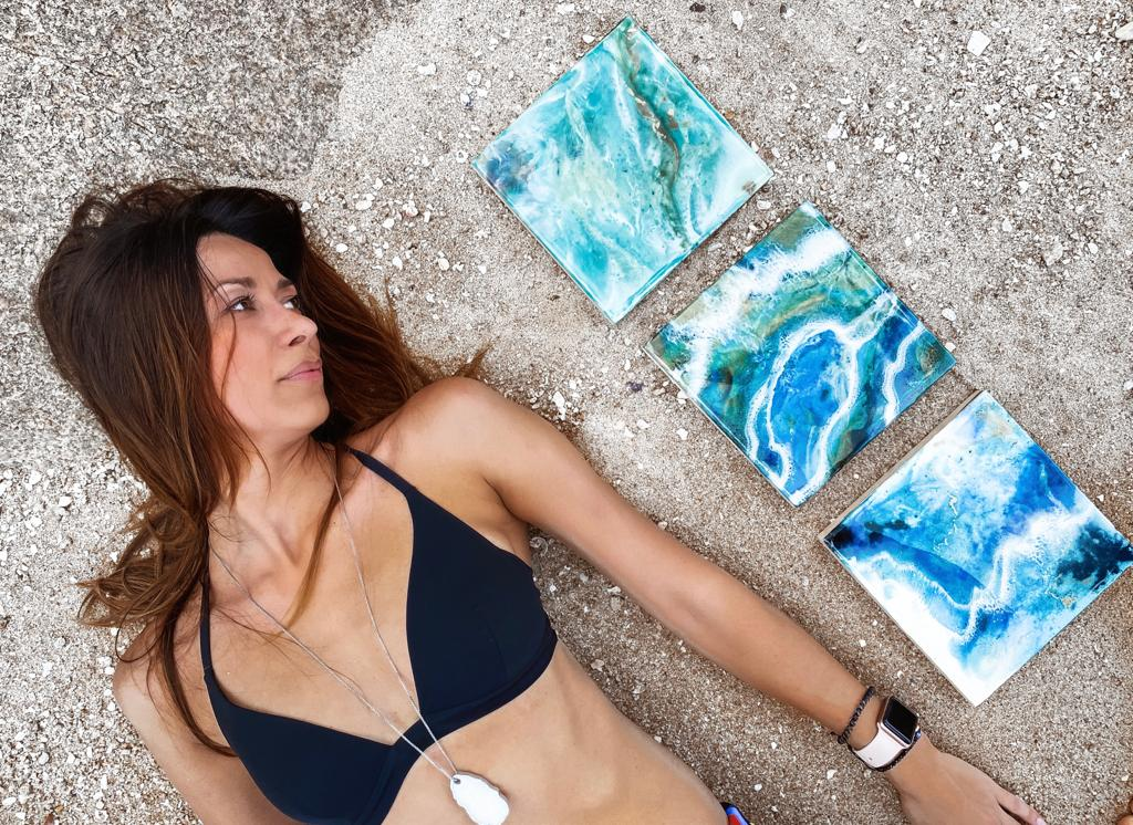 magdalena Klim Square earthy resin abstract