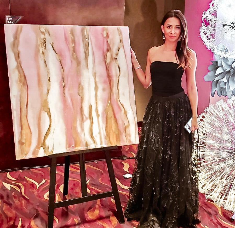 magdalena klim charity auction resin artist