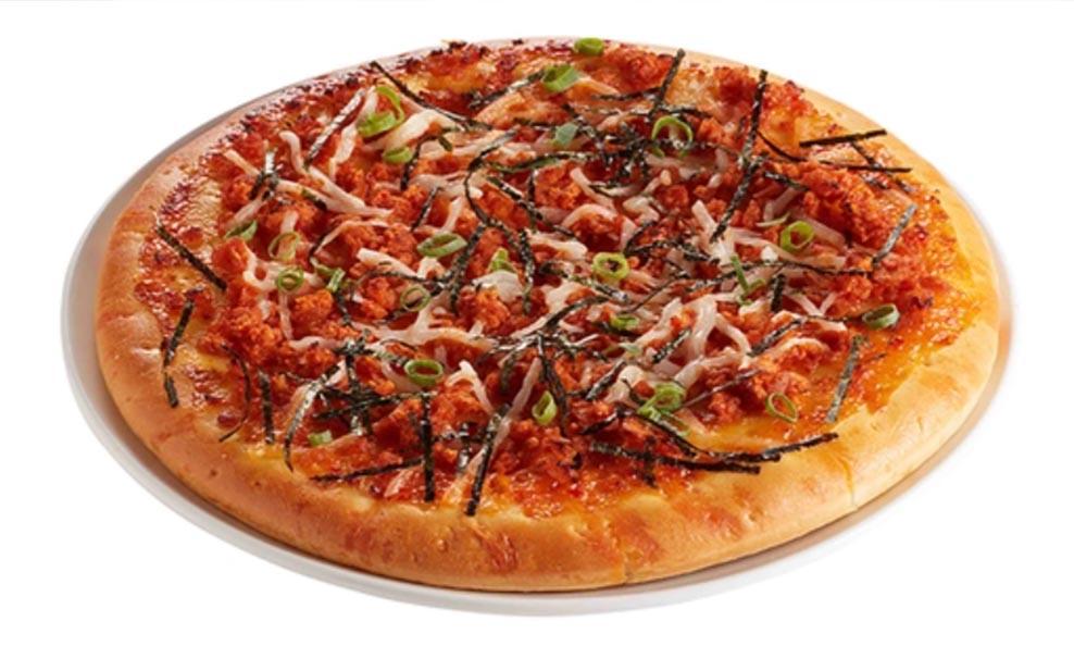 Korean Omnipork Vegan pizza WELL LET'S EAT Dining out