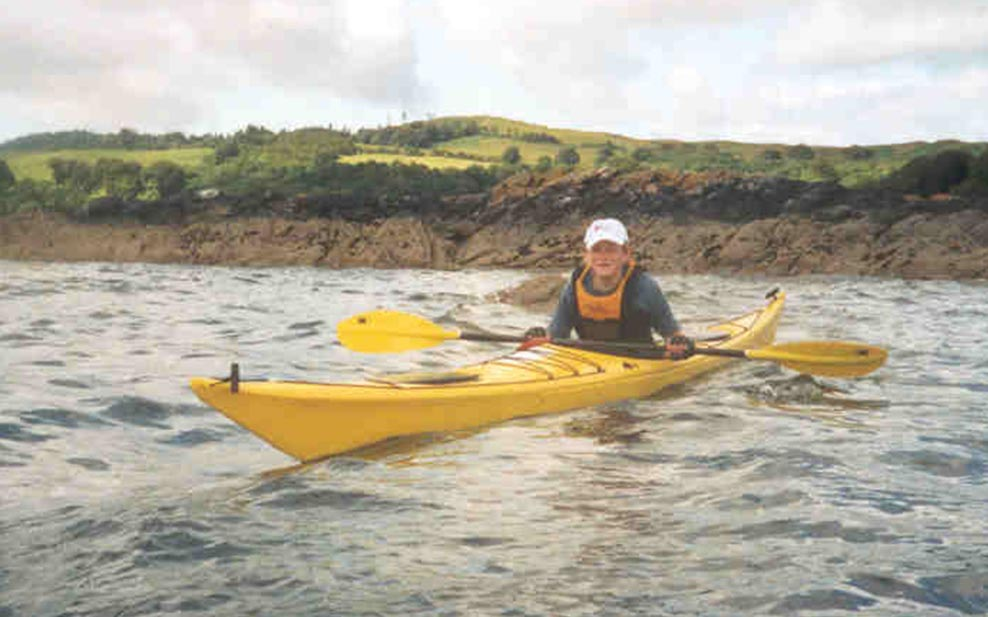 young Mark Agnew Kyak rowing