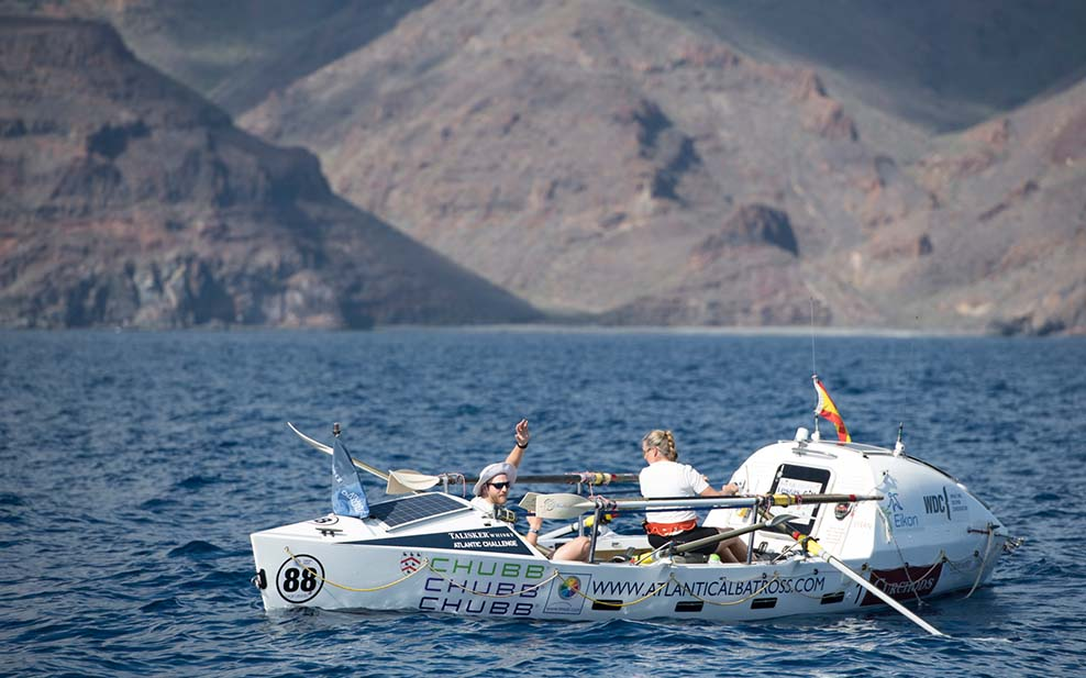 Mark Agnew setting off to row the Atlantic in 2018 s