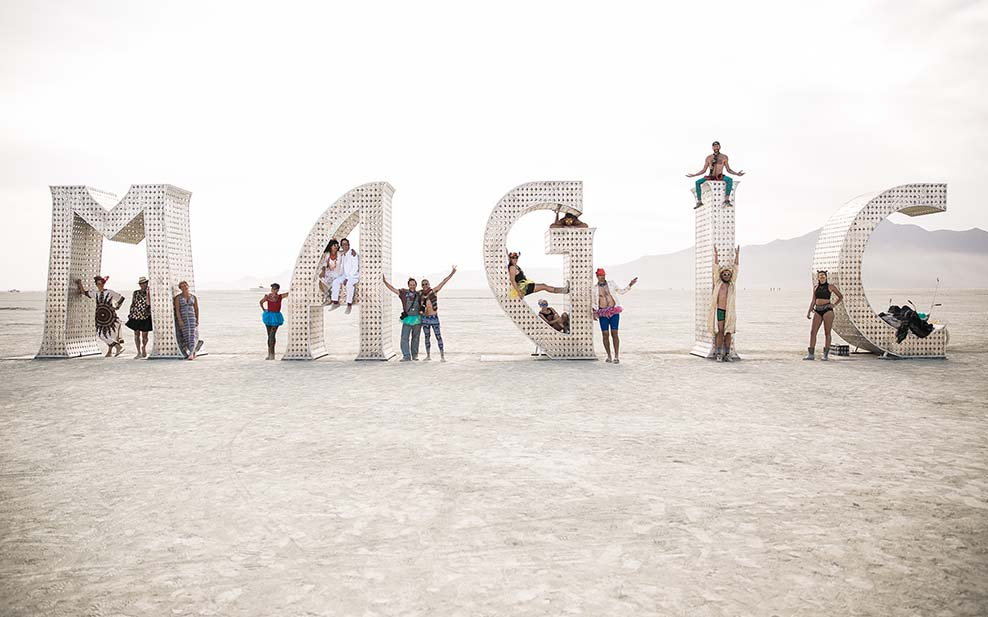 Tanja and her husband's wedding at Burning Man