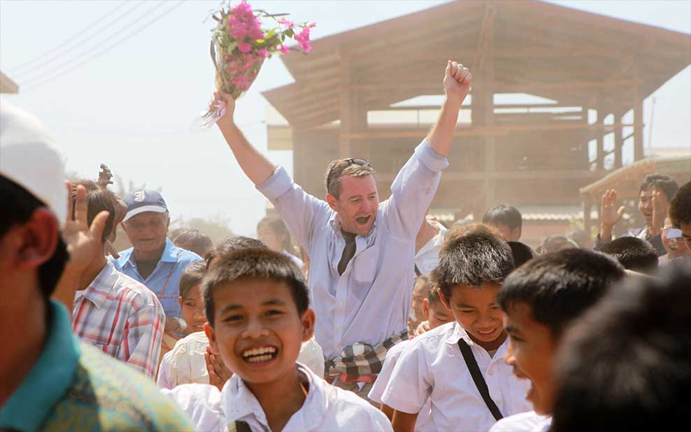 Celebrating with Children in Laos