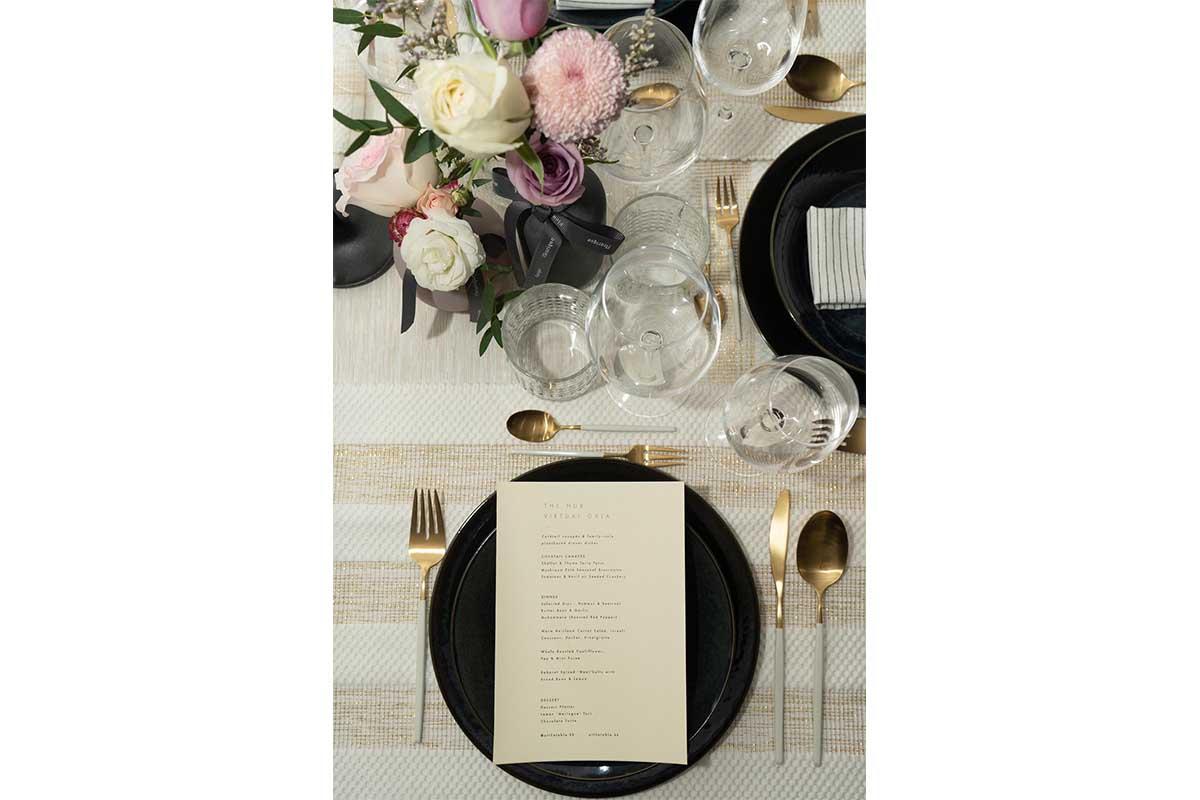 at the table menu