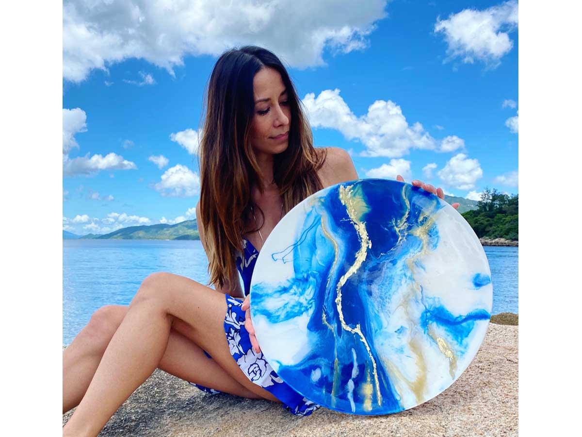 Magdalena Klim Electrical Storm resin on canvas
