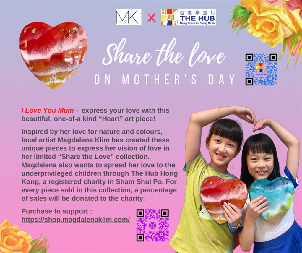 mother's day share the love resin artwork