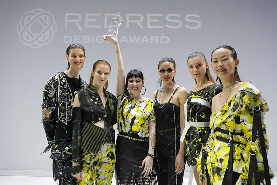 The winners of the 2018 Redress Design Award.